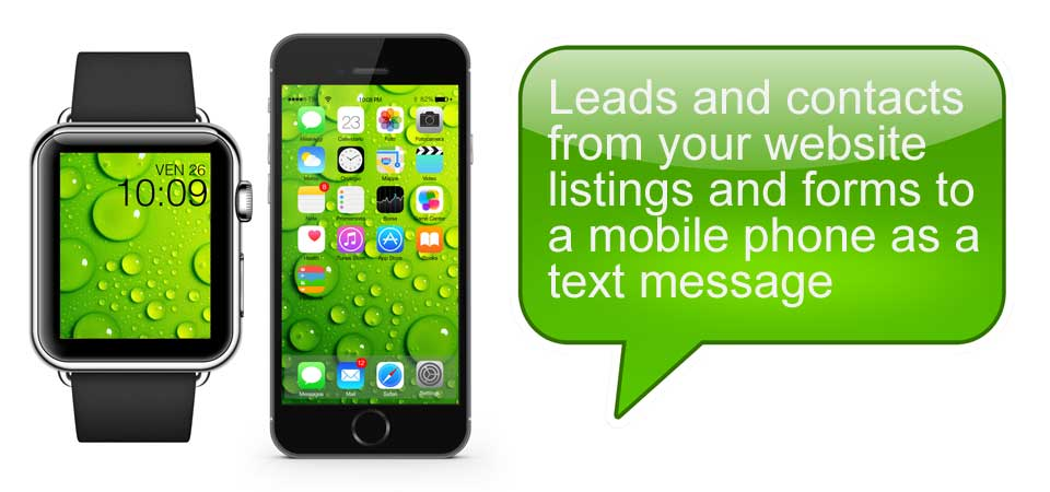 SMS contact forms for real estate llistings